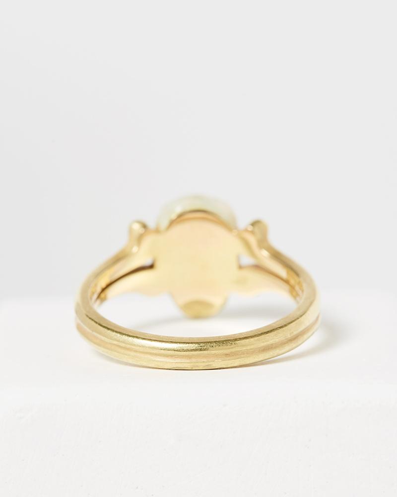 Nvit Blanche Enameled Skull Head Ring