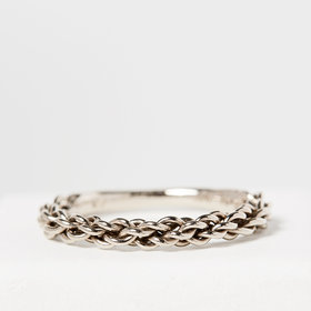 Nvit Blanche Braided Viking Ring