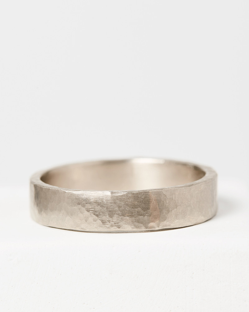 Mens Wedding Band.Hammered Men S Band