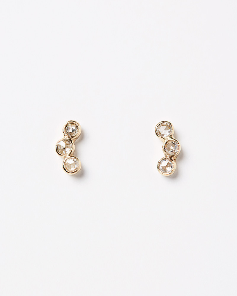 Adriatic Diamond Curved Studs
