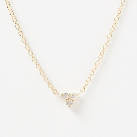 Nine Roses Triforce Brilliant Cut Diamond Necklace