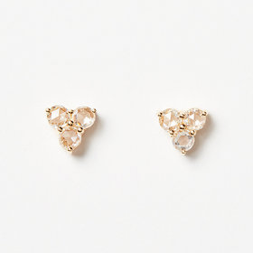 Nine Roses Triforce Rosecut Studs