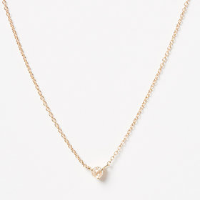 Nine Roses Single Diamond Rosecut Necklace