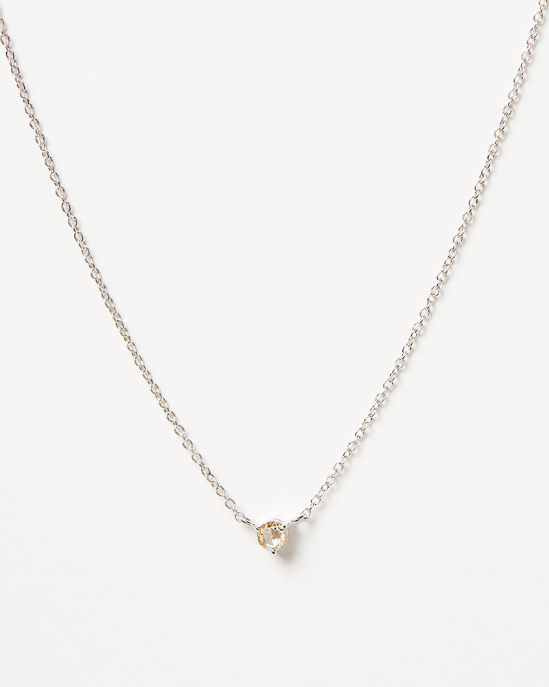 Nine Roses Single Diamond Rosecut Necklace