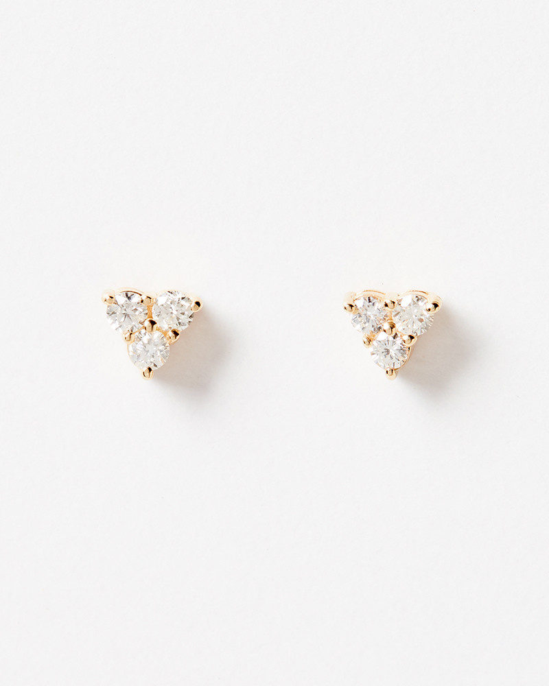 Nine Roses Triforce Brilliant Cut Diamond Studs
