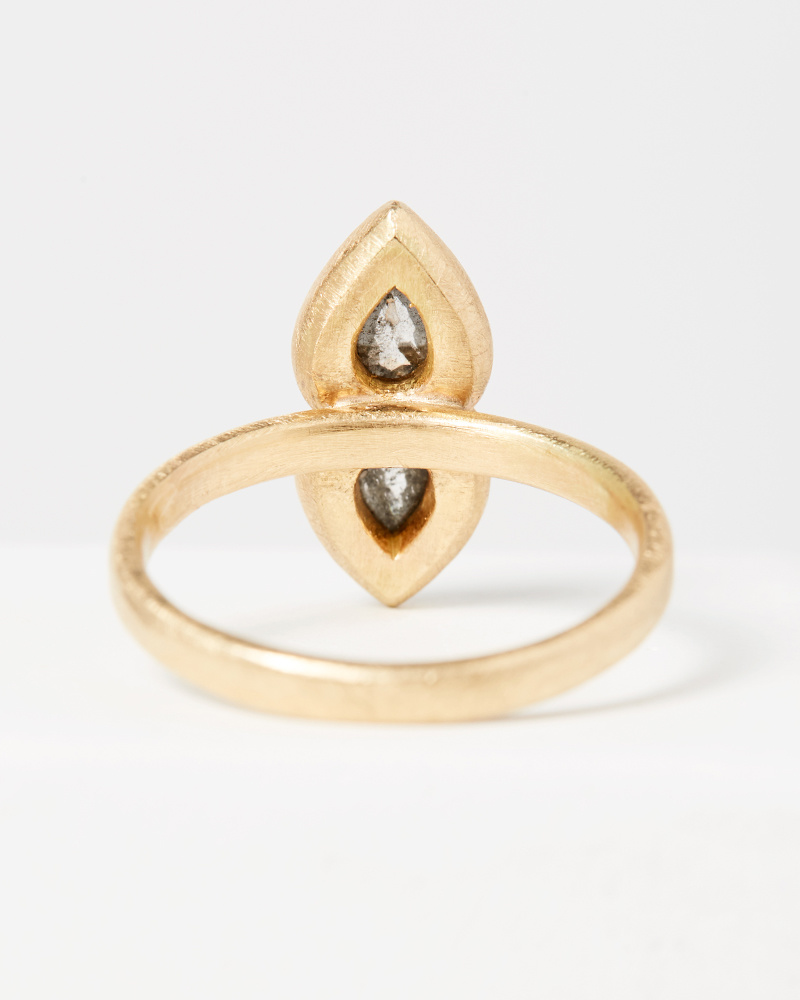 Yasuko Azuma Double Pear Diamond Ring