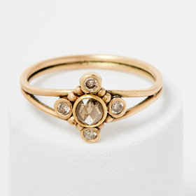 Mother of Gideon Champagne Flower Ring