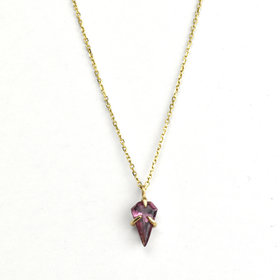 Adriatic Garnet Shield Necklace