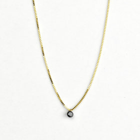 Adriatic Drilled Black Diamond Necklace
