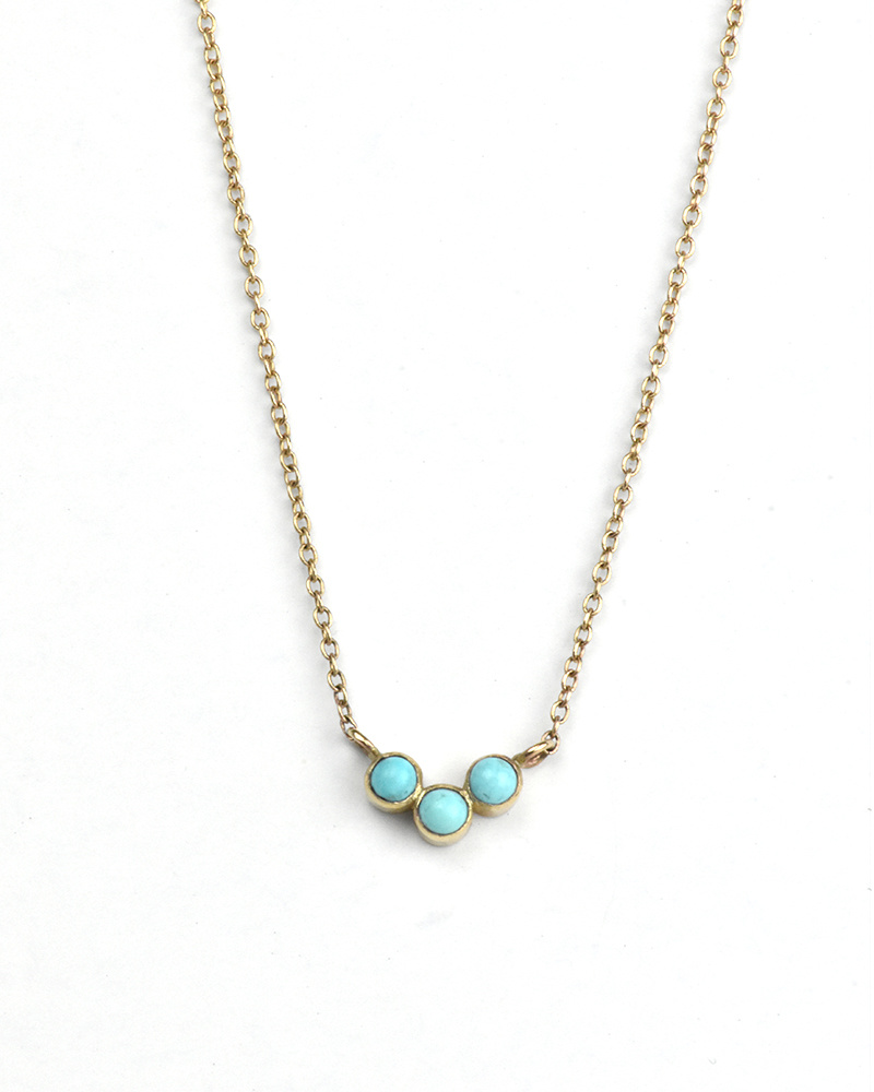 Adriatic Curved Turquoise Necklace