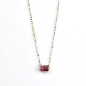 Elizabeth Street Jewelry Pink Tourmaline Necklace