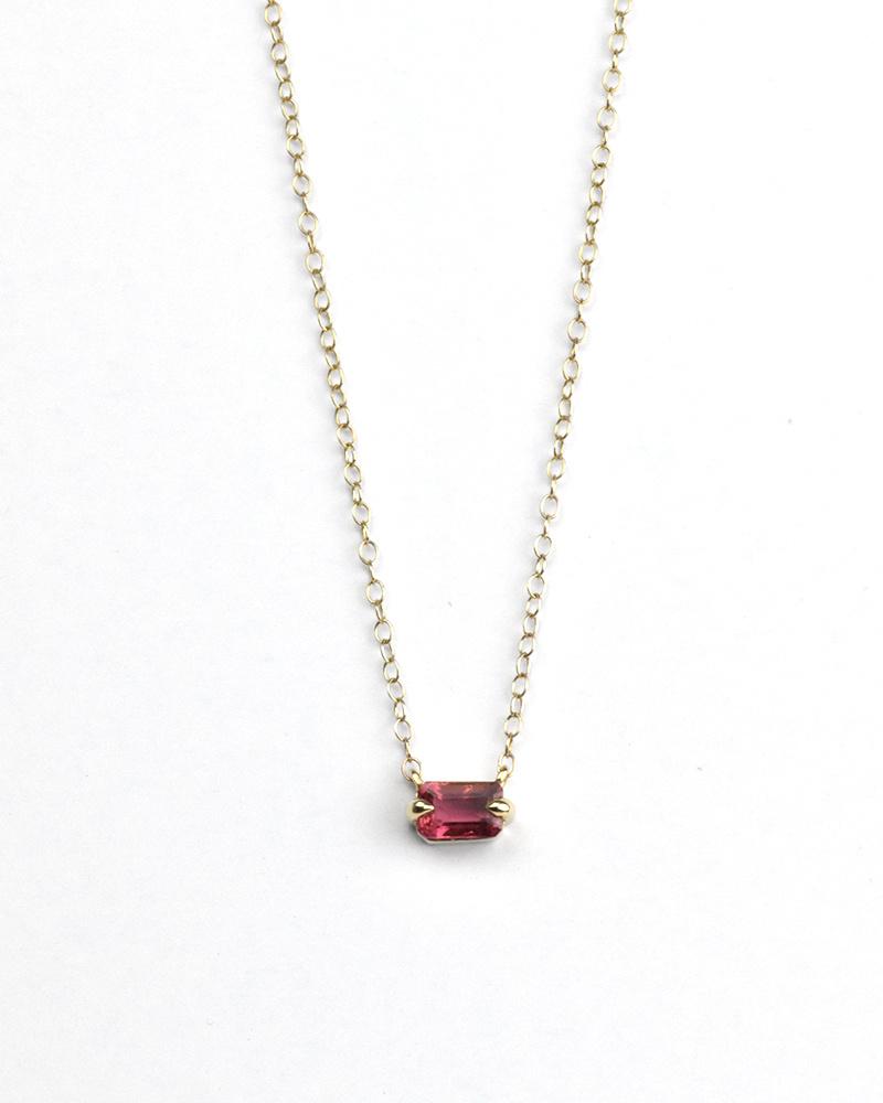 Elizabeth Street Jewelry Pink Tourmaline Necklace