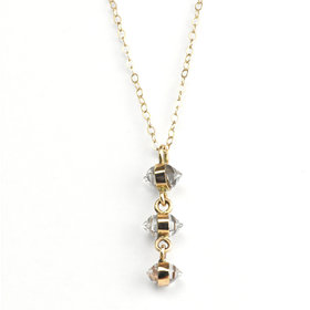 Melissa Joy Manning Herkimer Three Drop Necklace