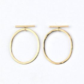 Melissa Joy Manning Oblong Drop Bar Earrings