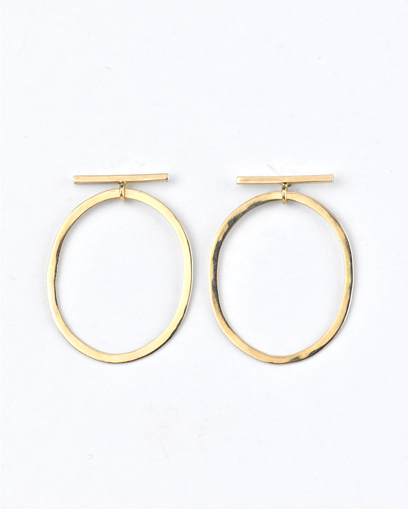 Melissa Joy Manning Oblong Drop Bar Earrings