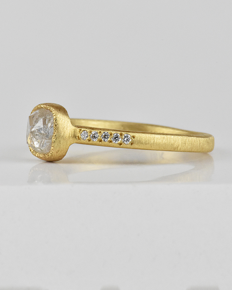 Yasuko Azuma Square Icy Diamond Ring