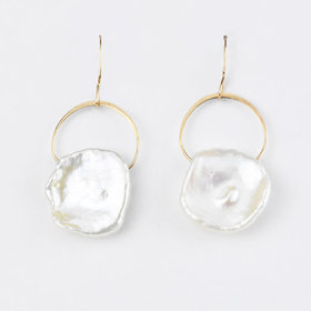 Melissa Joy Manning Keshi Pearl Drop Earrings