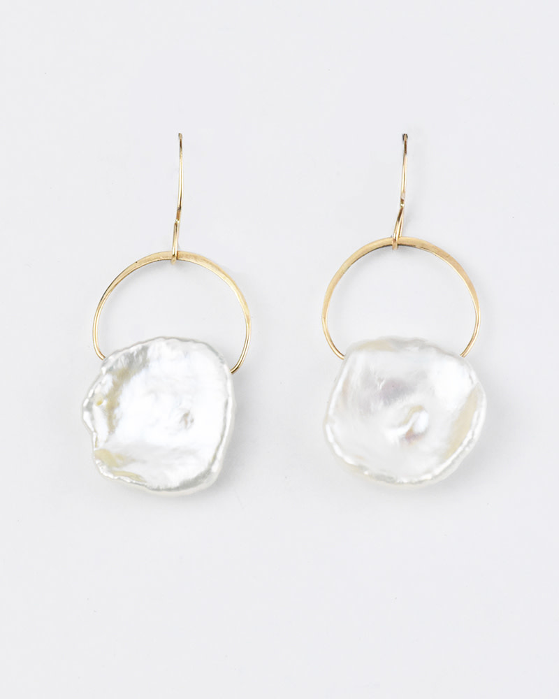 Melissa Joy Manning Keshi Pearl Drop Earrings