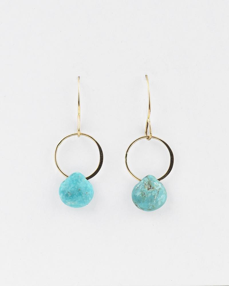 Melissa Joy Manning Turquoise Single Drop Earrings