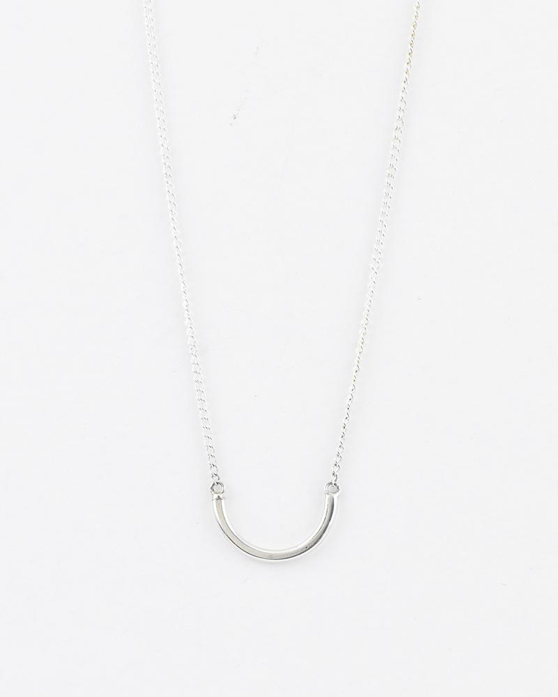 Melissa Joy Manning Silver Semi Circle Necklace