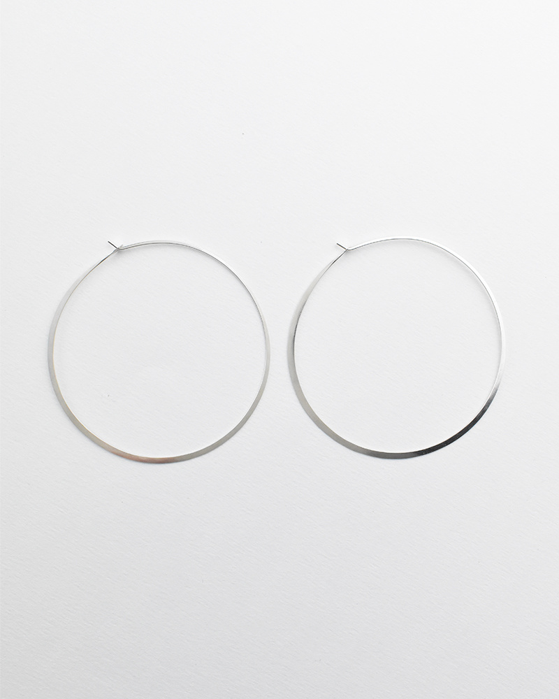 Melissa Joy Manning Soup Can Hoops — Silver