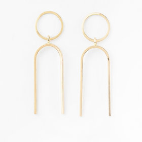 Melissa Joy Manning Elongated U Drop Earrings