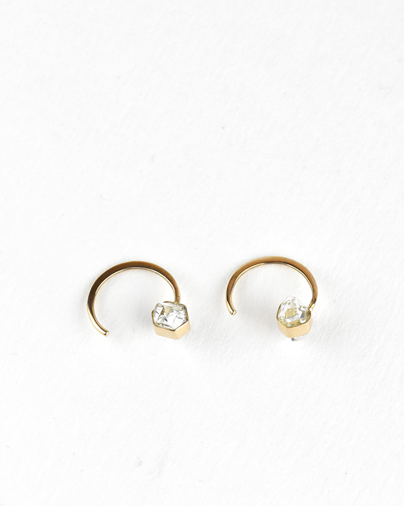 Melissa Joy Manning Herkimer Hug Earrings