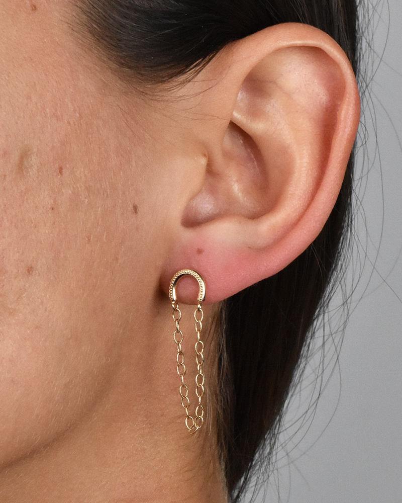 Elizabeth Street Jewelry Rainbow Chain Studs