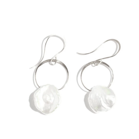 Melissa Joy Manning Keshi Pearl Earrings — Silver