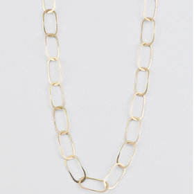 Melissa Joy Manning Oval Link Gold Chain Necklace