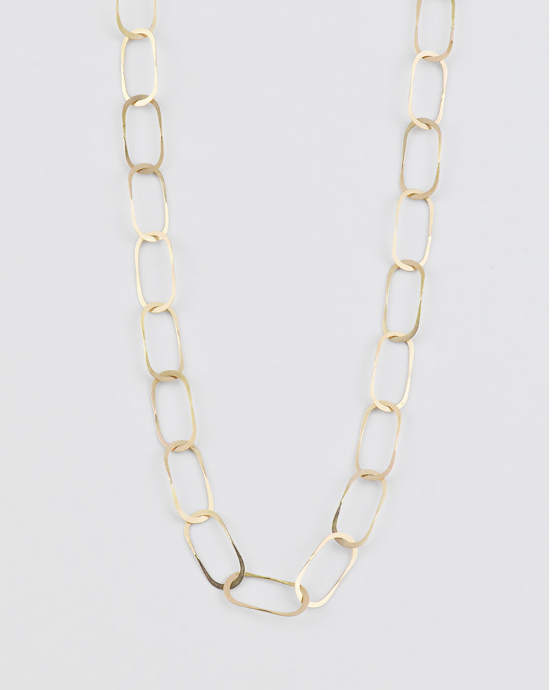 Melissa Joy Manning Oval Link Gold Chain Necklace