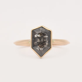 Adriatic Hex Diamond Ring