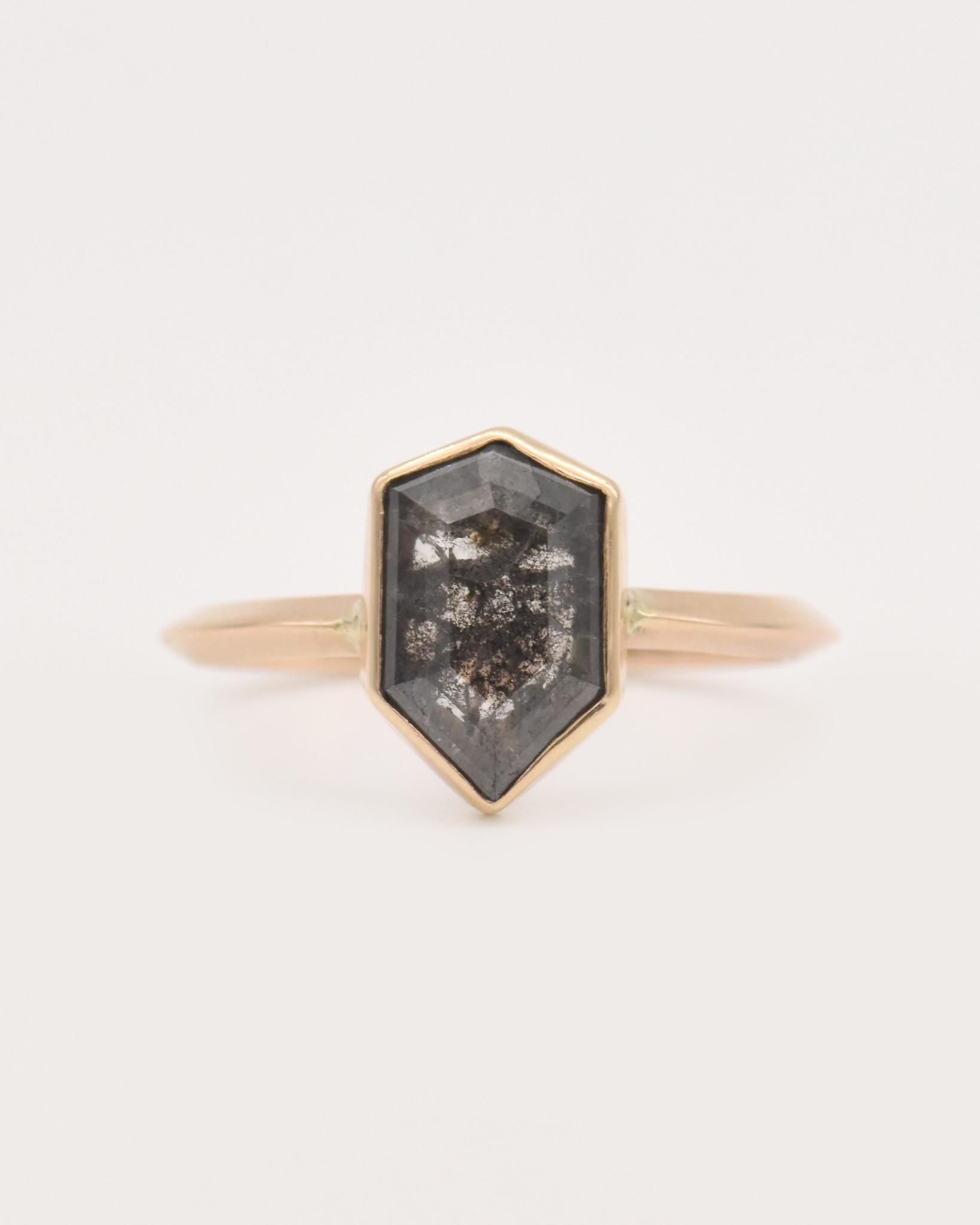 Adriatic Hex Diamond Ring