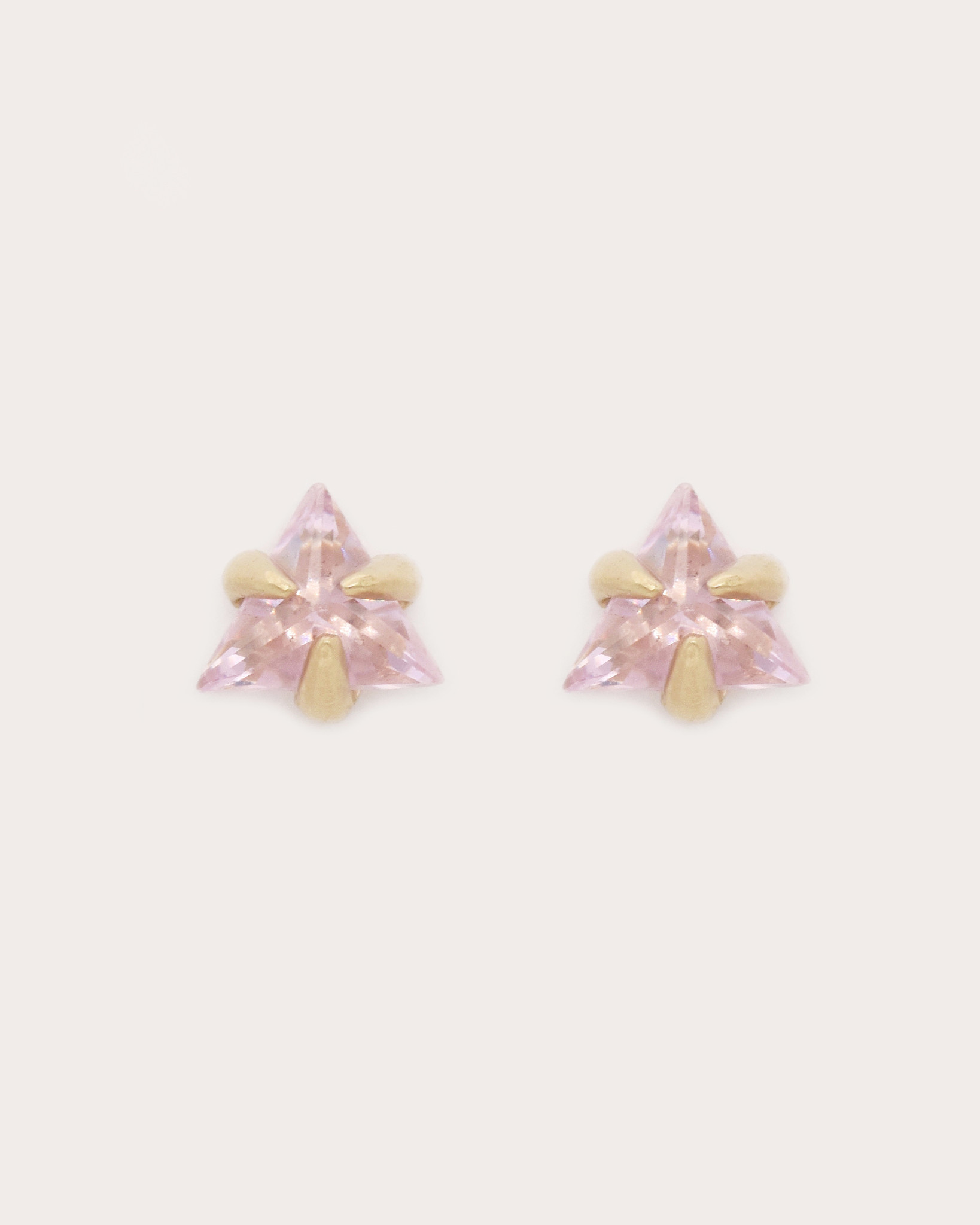 Adriatic Triangle Studs — Pink Sapphire