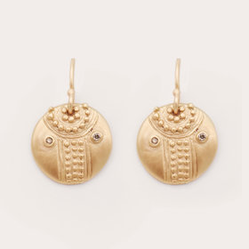 Lorak Small Shield Earrings