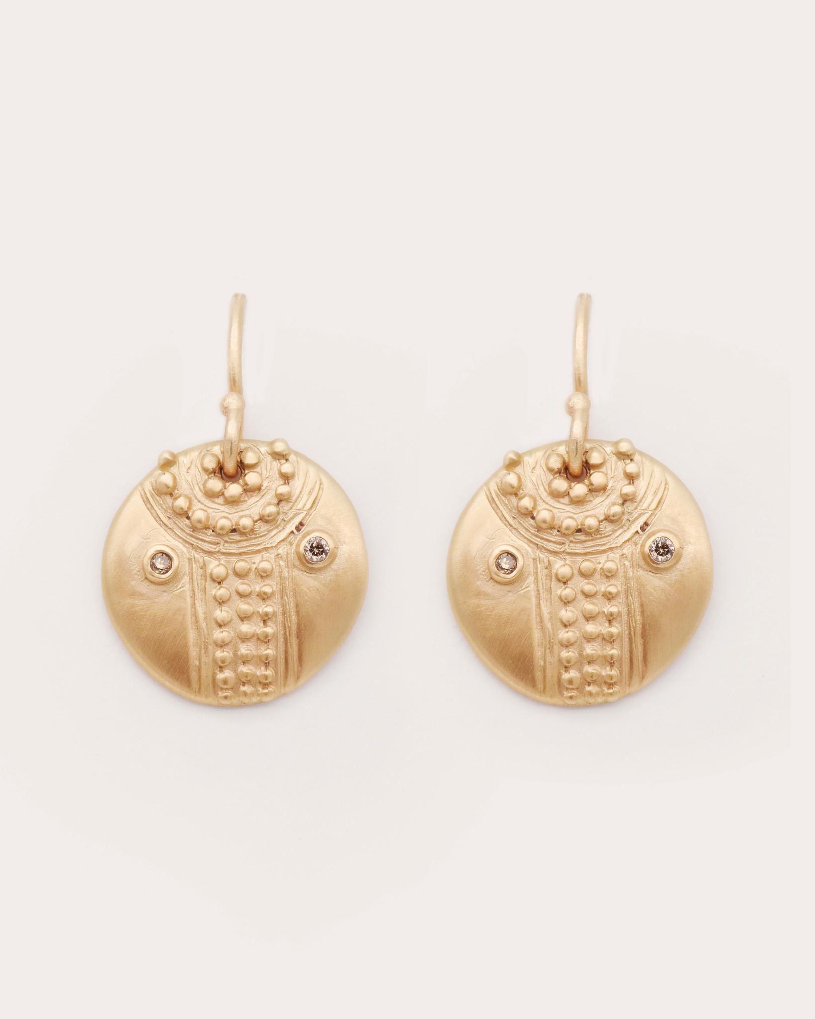 Lorak Small Shield Earrings