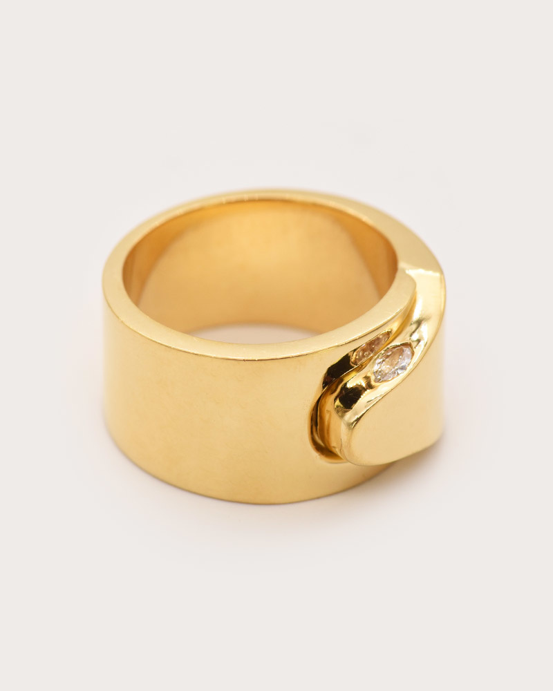 Nvit Blanche Cobra Ring