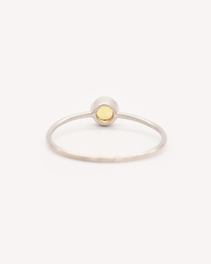 Nvit Blanche Orange Sapphire Solitaire Ring