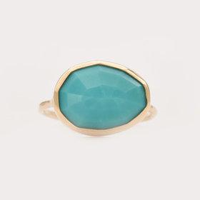 Melissa Joy Manning Turquoise Bezel Ring