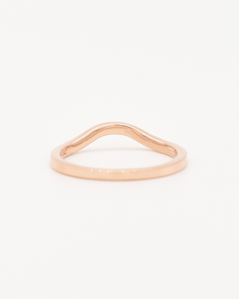 Nine Roses Rose Gold Baby Venus – Pavé Half Eternity