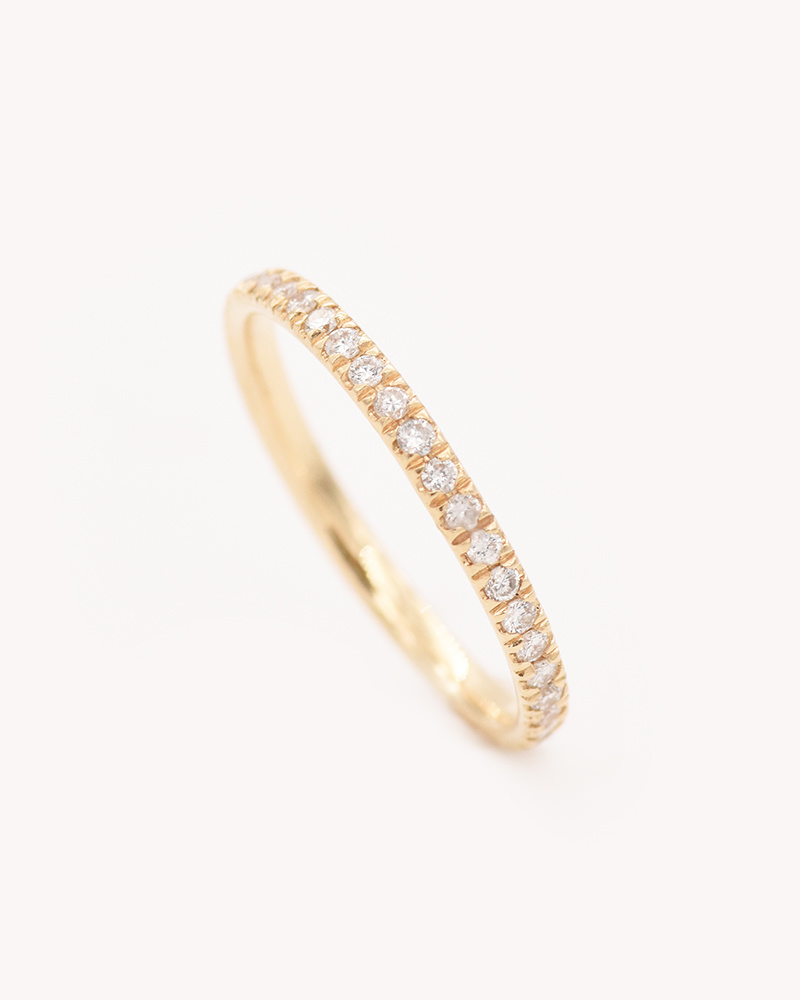 Nine Roses Baby White Diamond Eternity Band