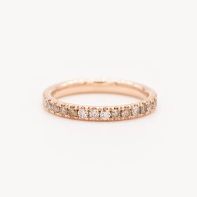 Nine Roses Classic Eternity Band — Champagne Diamond