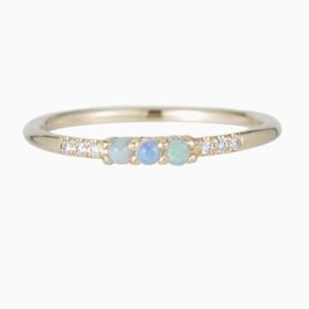 Jennie Kwon 3 Opal Equilibrium Ring