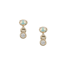 Jennie Kwon Diamond Opal Drop Stud — Single