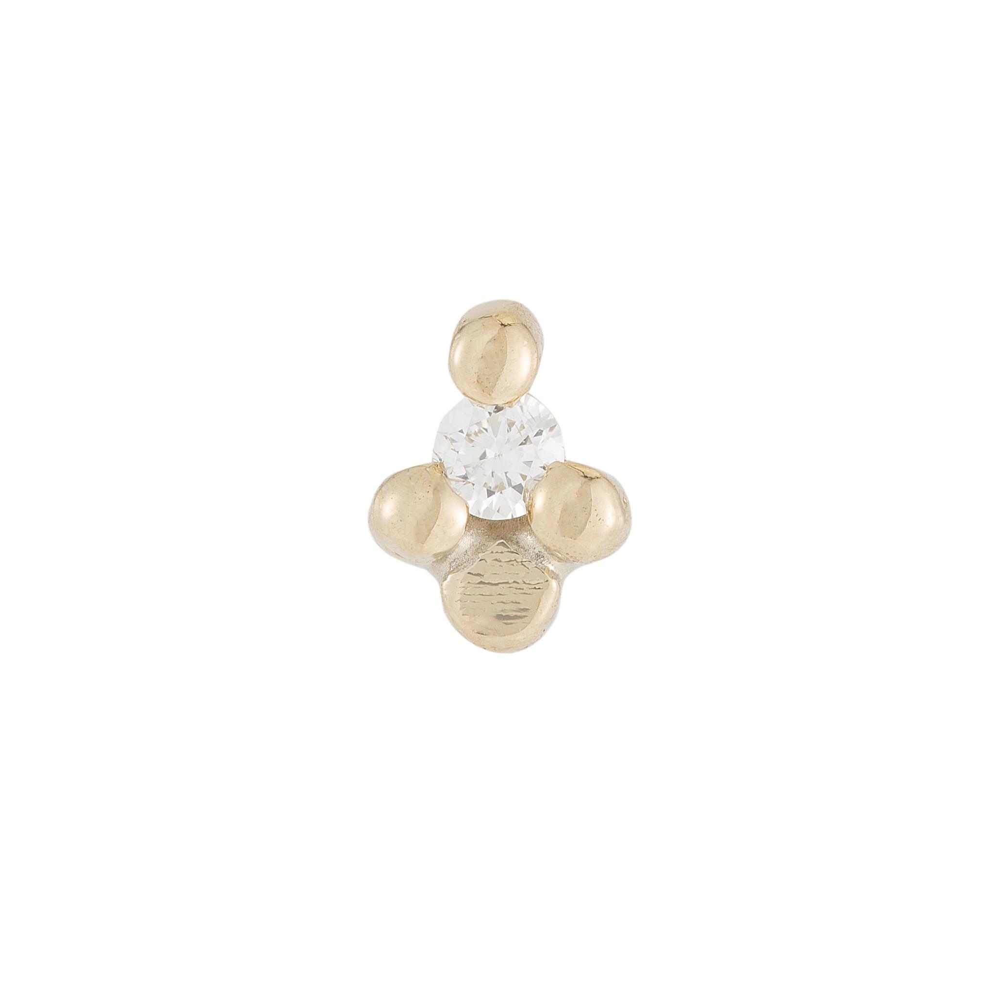 Jennie Kwon Diamond Flora Stud — Single