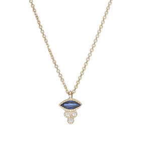 Jennie Kwon Marquise Sapphire Crown Necklace