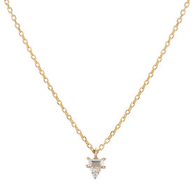 Jennie Kwon Diamond Baguette Cluster Necklace