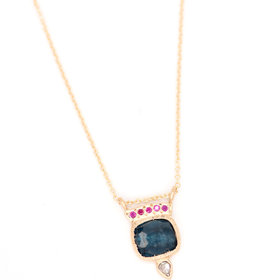 Lorak Ruby Horizon Necklace