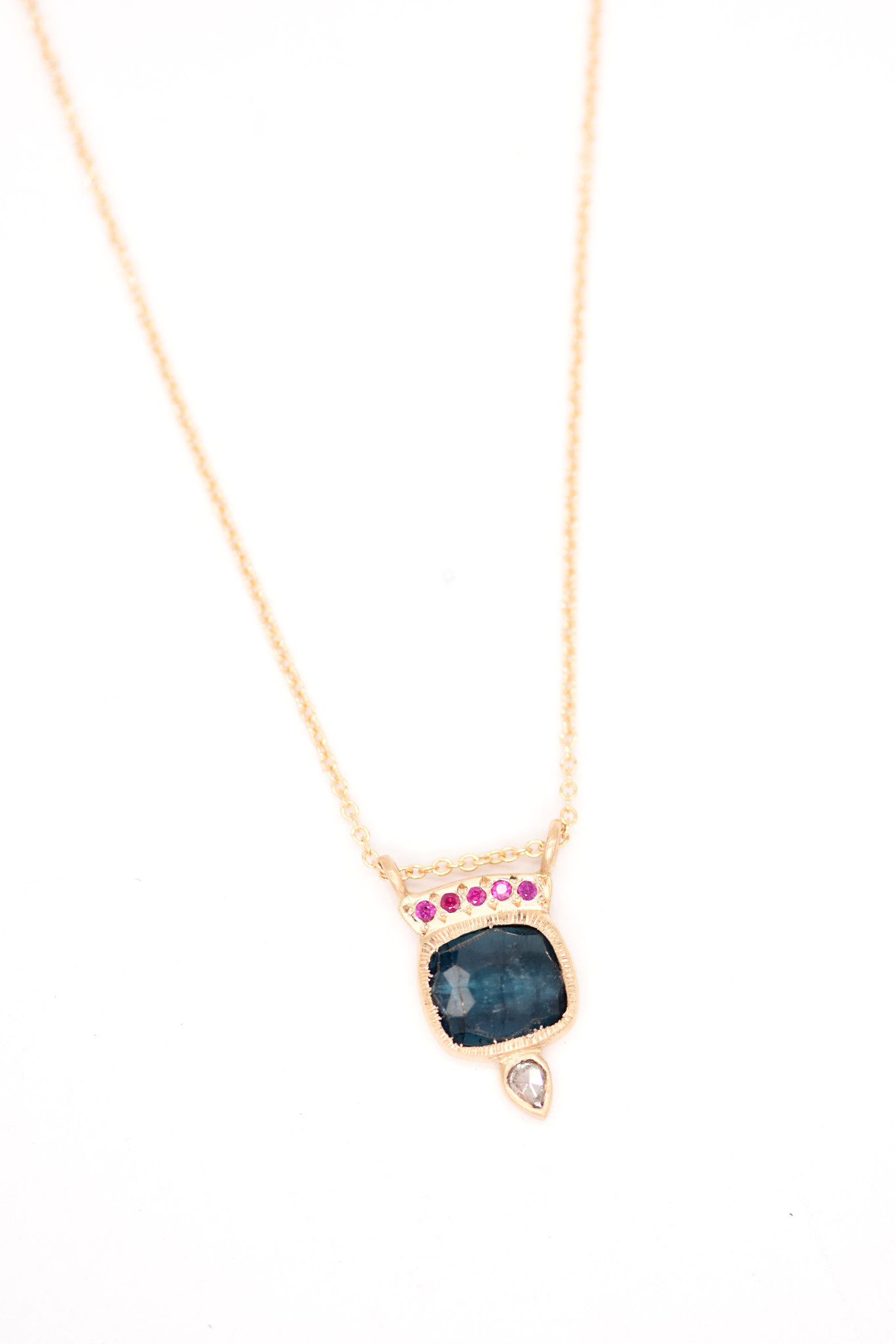 Lorak Ruby Horizon Necklace