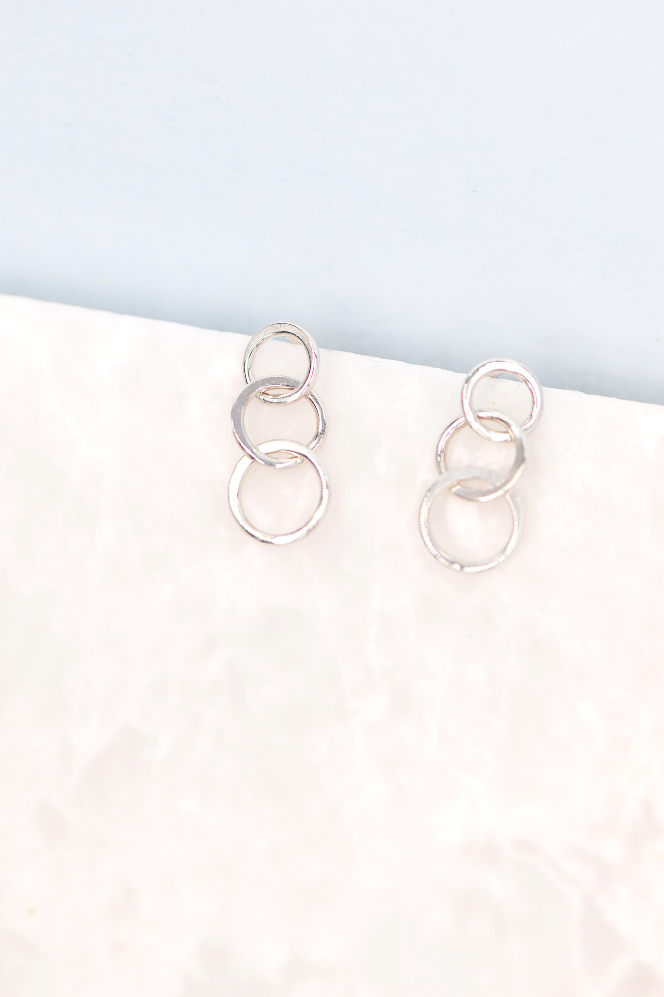 Melissa Joy Manning Triple Circle earrings — Sterling Silver